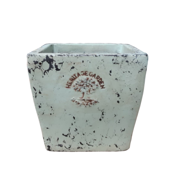 Ancient Sterling Collection - Large Light Green Square Planter