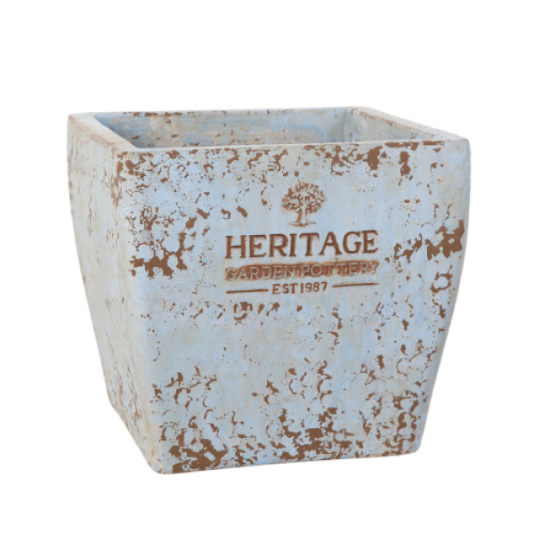 Ancient Sterling Collection - Medium Light Blue Square Planter