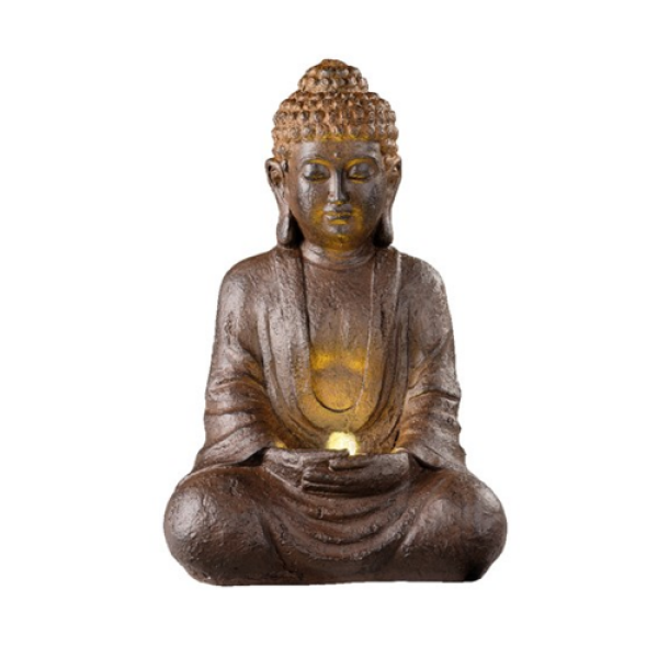 Brown Sitting Buddha - Water Feature