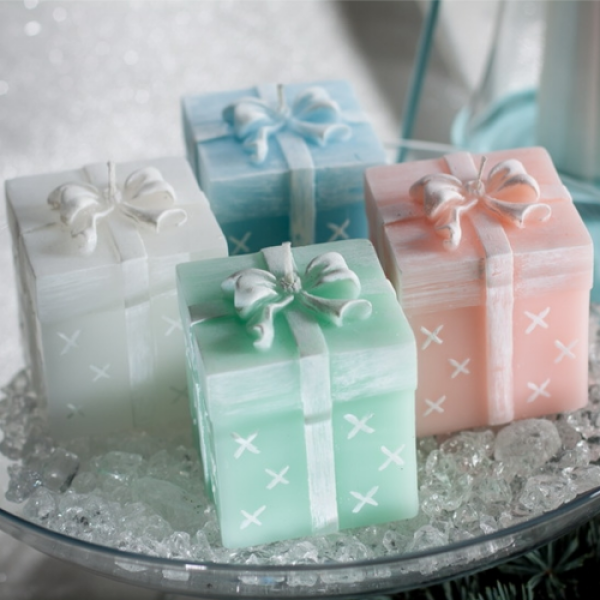 Christmas Candle Gift - Gift Box Blue