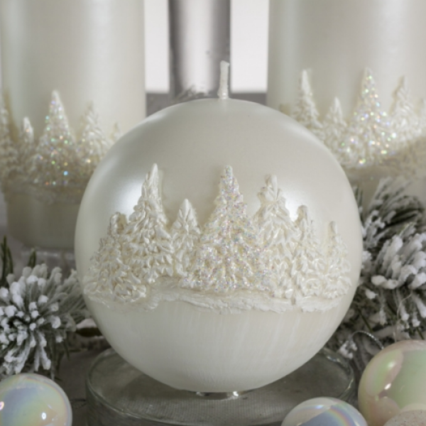 Christmas Candle Gift - Winter Forest Sphere