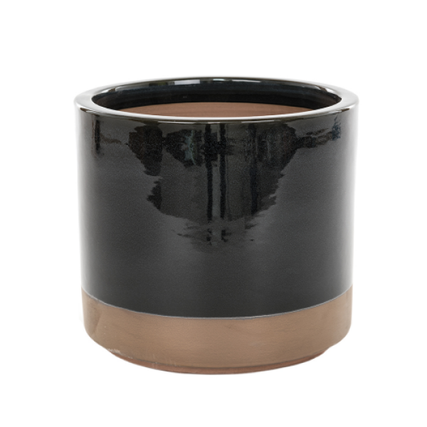 Copper Bottom - Large Black Cylinder