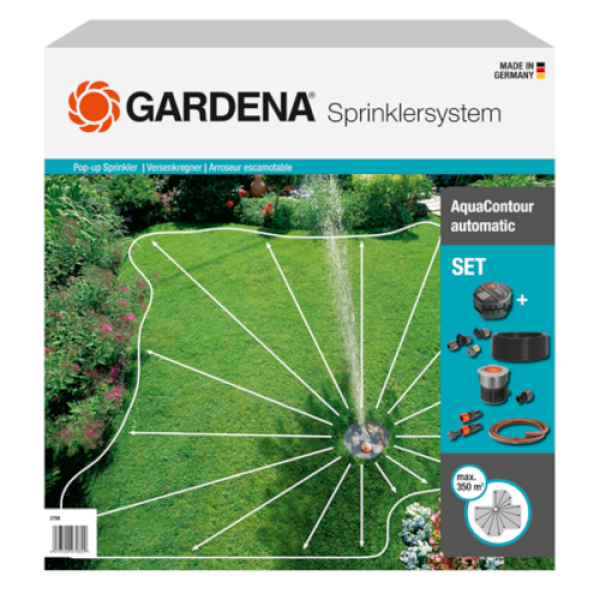 Gardena - Complete Set with Large-Area Pop-Up Irrigation AquaContour automatic