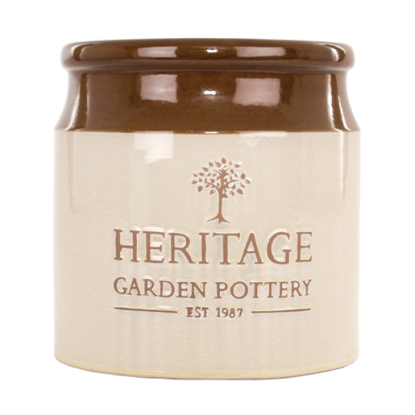 Heritage Storage Jar - Extra Large Cylinder Cream Planter