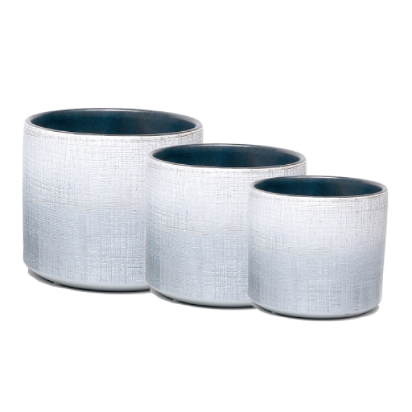 Indoor Shine Silver Pot Covers - Nest of 3