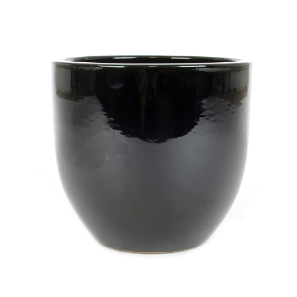June Egg - Small Black Planter