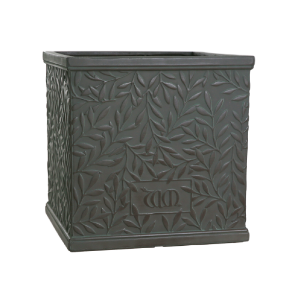 William Morris Collection Medium Faux Lead Square Planter