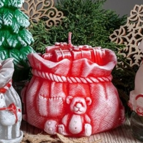 Christmas Candle Gift - Christmas Red Sack