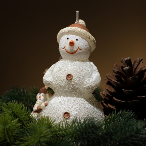 Christmas Candle Gift - Snowman