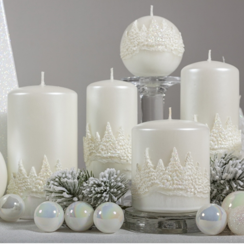 Christmas Candle Gift - Winter Forest Pillar