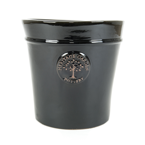 Edwardian Collection - Medium Black Pot Planter
