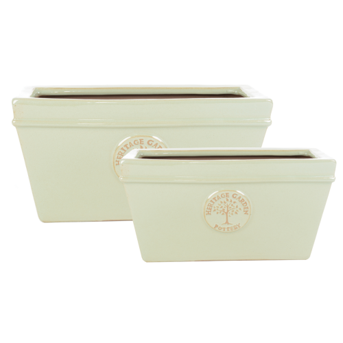 Edwardian Collection - Nest of 2 Mint Green Trough Planters