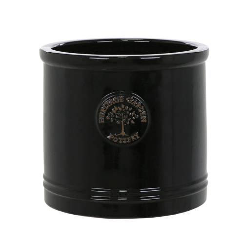 Edwardian Collection - Small Black Cylinder Planter