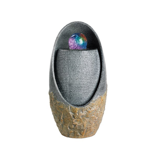 Stone Egg with Colour LED - Water Feature