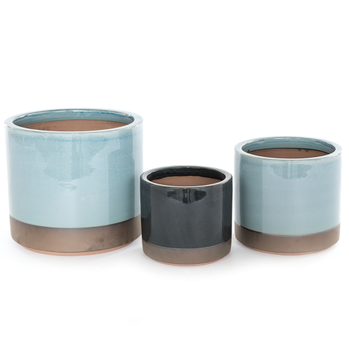 Copper Bottom - Small Blue Cylinder