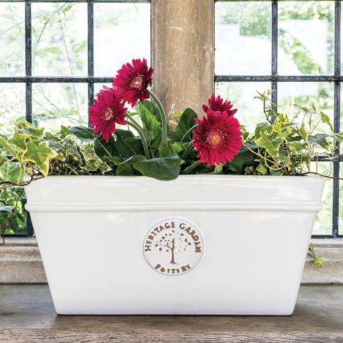 Edwardian Collection - Extra Large White Pot Planter